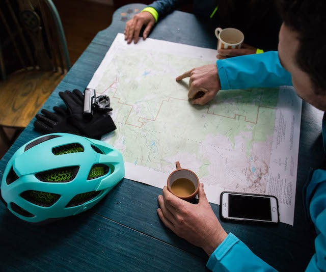 Mapping out a bike ride