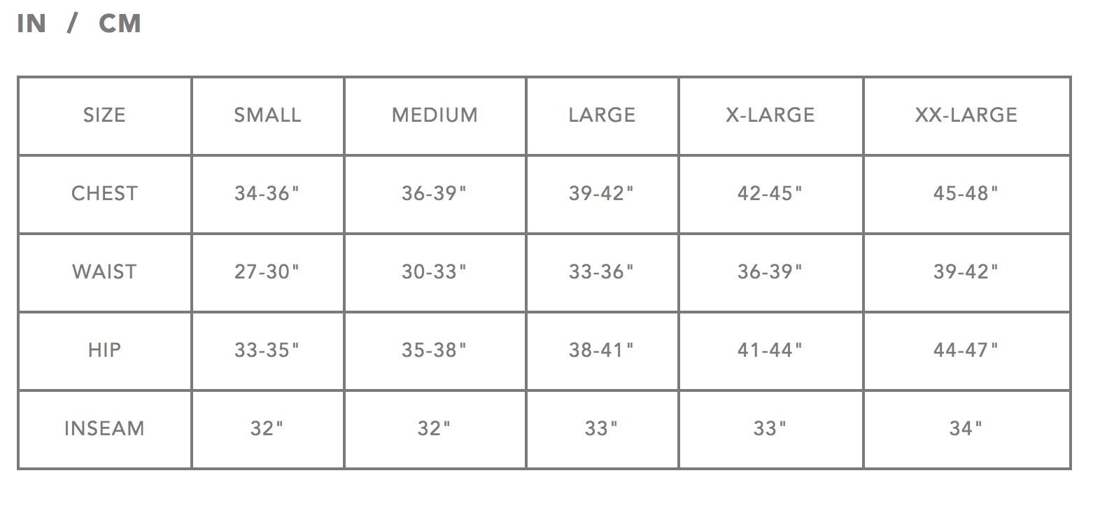Dakine Size Chart