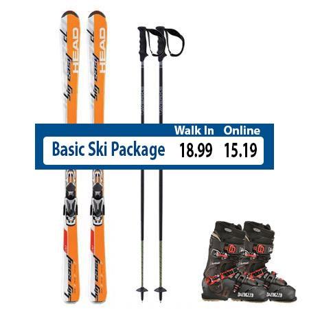 Basic Ski Rental Package Steamboat Springs