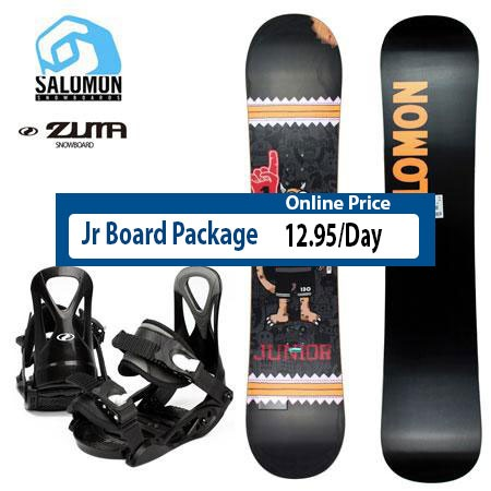 Downtown Steamboat Kids Snowboard Package