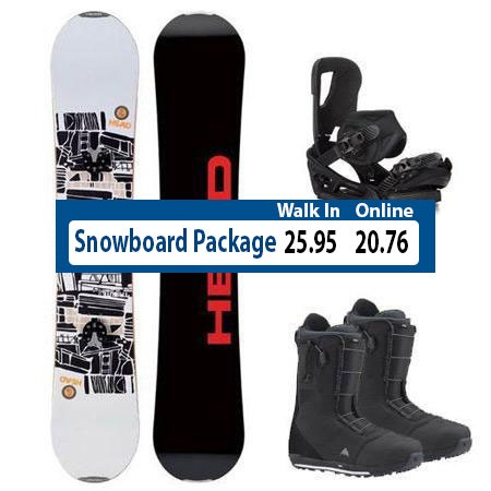 Downtown Steamboat Snowboard Package