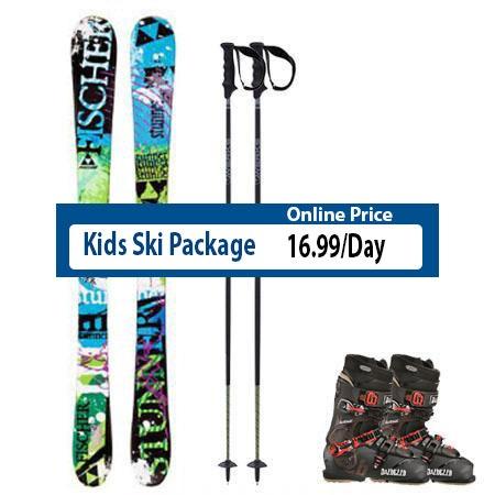 Kids Ski Rental Package Steamboat Springs Downtown