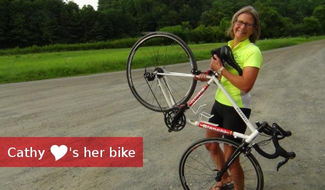 cathy's new bike