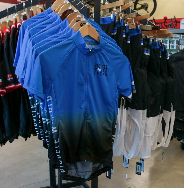 Bicycle World BW Custom Blue Fade Jersey