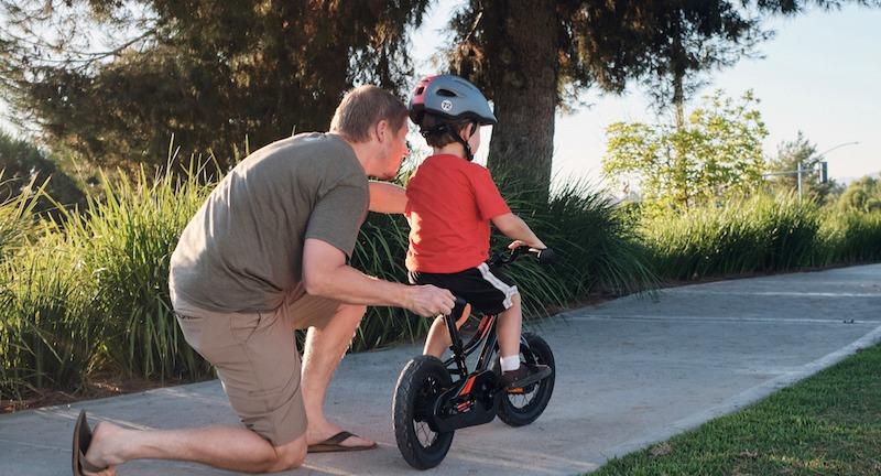 Boy on 12-inch kids' bike