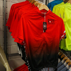 Bicycle World BW Red Fade Jersey - Regular Fit