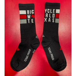 Bicycle World BW Classic Stripe Black Socks