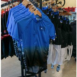 Bicycle World BW Custom Blue Fade Pro Jersey