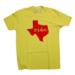 Bicycle World Ride Texas Yellow Tee