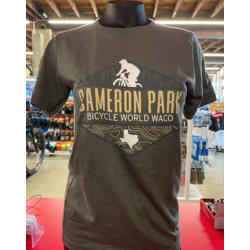 Bicycle World Cameron Park Trail Map Shirt - Green