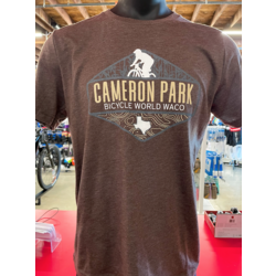 Bicycle World Cameron Park Trail Map Shirt - Brown