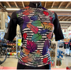 Bicycle World BW Custom Women's Leaf and Feather Pro Jersey