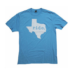 Bicycle World Ride Texas Turquoise Tee