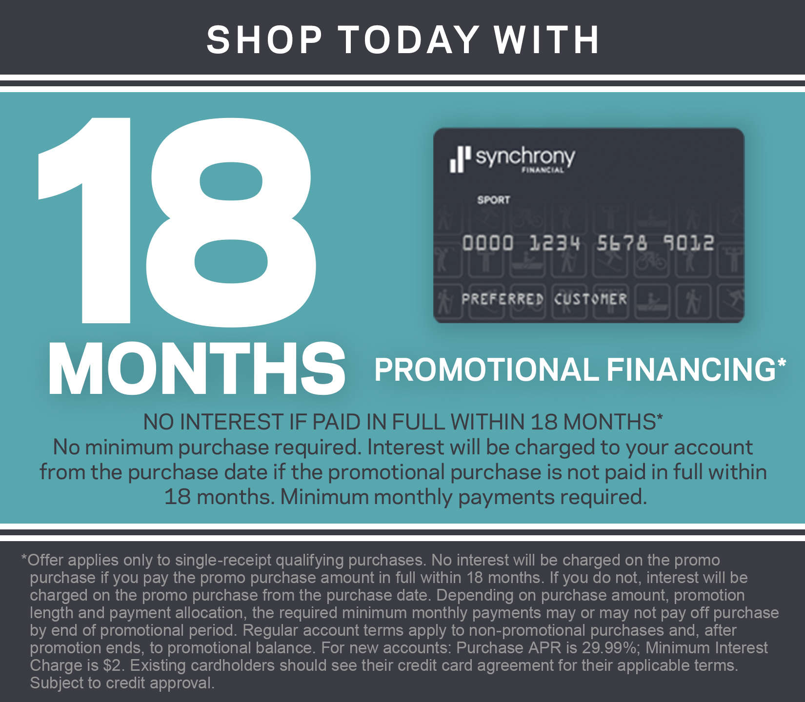 18 months financing