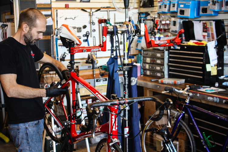 Service Department at Adams Avenue Bicycles