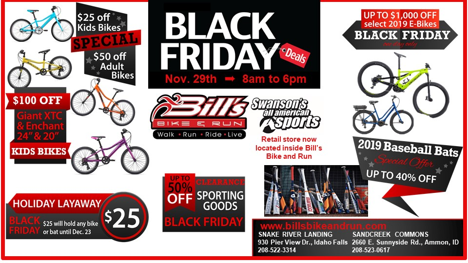 Black Friday Sale Bill S Bike Run Bicycle And Running Store