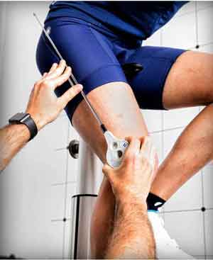 Bike Fitter measuring knee angle
