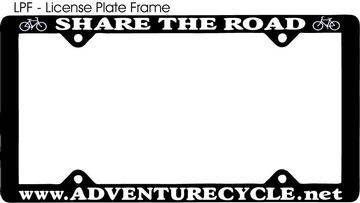 Adventure Cycle License Plate Frame