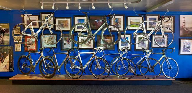 bike floor model showcase