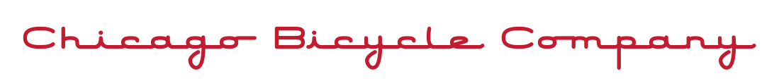 Chicago Bicycle Company Word Logo Red