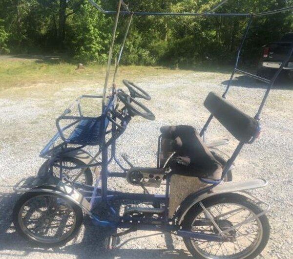 Tecnoart Used TecnoArt Single Bench Surrey Bike (Blue)