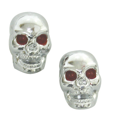 Tricktopz VALVE CAPS SKULL ONLY 1pr/PK Color: CP