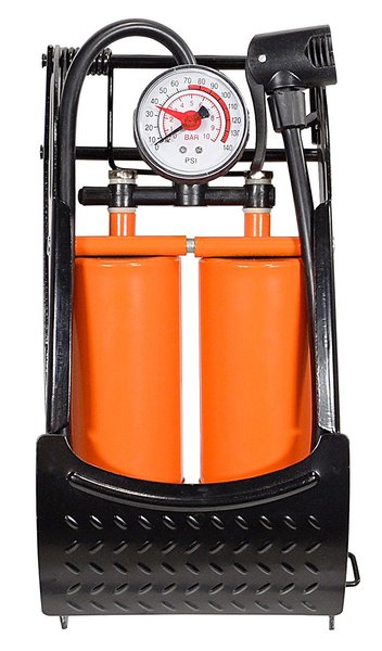 Kent International CAPSTONE DBL BARREL FOOT PUMP W/ GAUGE