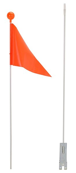 "Kent International CAPSTONE ORANGE SAFETY FLAG-60"" 2 PIECES-POLY/HEADER"