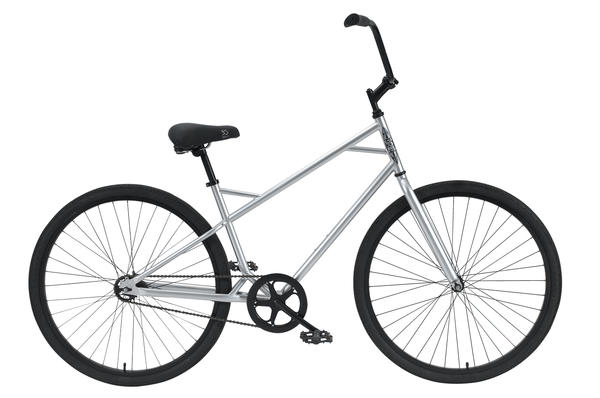 3G Bikes Chicago 1spd Color: Platinum / Black