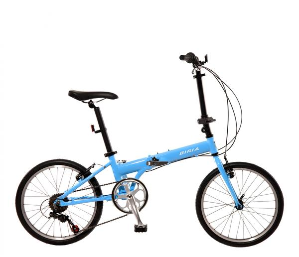 "Biria Folding Bike 20"" Color: Sky Blue"
