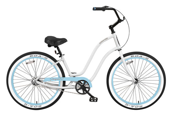 3G Bikes Newport 3 Sp Color: White/Baby Blue