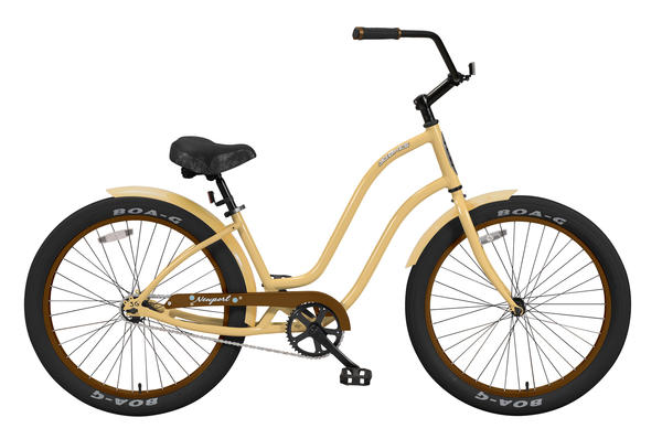 3G Bikes Newport w/ Fenders 1Sp Color: Vanilla / Dark Brown