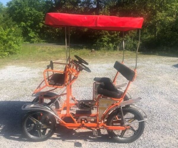 NewTecnoArt Refurbished Used NewTecnoArt Selene Sport Surrey Bike (Orange w/ Red Top)