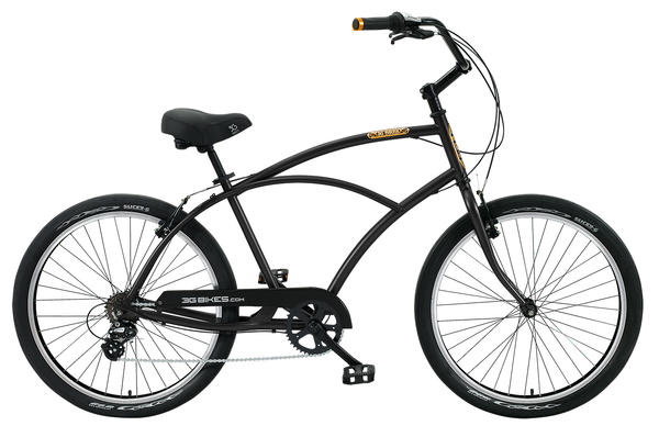3G Venice 7 speed Color: Matte Black/ Black