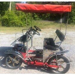 NewTecnoArt Used 2018 NewTecnoArt Selene Sport Surrey Bike (Gray w/ Red Top)