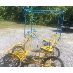 Tecnoart Used Vintage TecnoArt Single Bench Surrey Bike (Yellow & Blue)