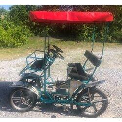 NewTecnoArt Used NewTecnoArt Selene Sport Surrey Bike (Metallic Turquoise w/ Red Top)
