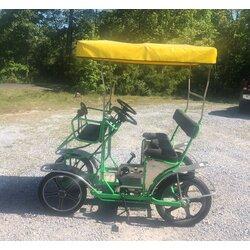 NewTecnoArt Refurbished Used NewTecnoArt Selene Sport Surrey Bike (Green w/ Yellow Top)