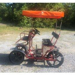 NewTecnoArt Used NewTecnoArt Selene Sport Surrey Bike (Red w/ Orange Top)