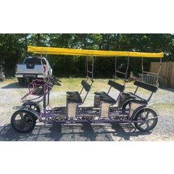 Tecnoart Used TecnoArt Triple Bench Surrey Bike (Purple w/ Yellow Top)