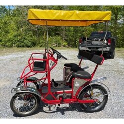 NewTecnoArt Refurbished Used NewTecnoArt Selene Sport Surrey Bike (Red w/ Yellow Top)