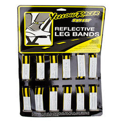 Yellow Racer Safety Reflective Leg Bands single