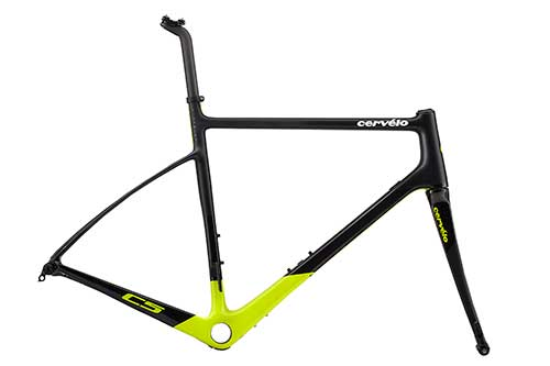 Cervelo C5 Frameset Color: Black / Flouro
