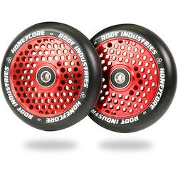 Root Industries Honeycore Wheels 110mm - Black / Red