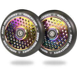Root Industries Honeycore Wheels 110mm - Black / Rocket Fuel