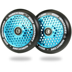 Root Industries Honeycore Wheels 110mm - Black / Sky Blue