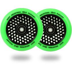 Root Industries Honeycore Radiant Wheels 110mm - Green / Black