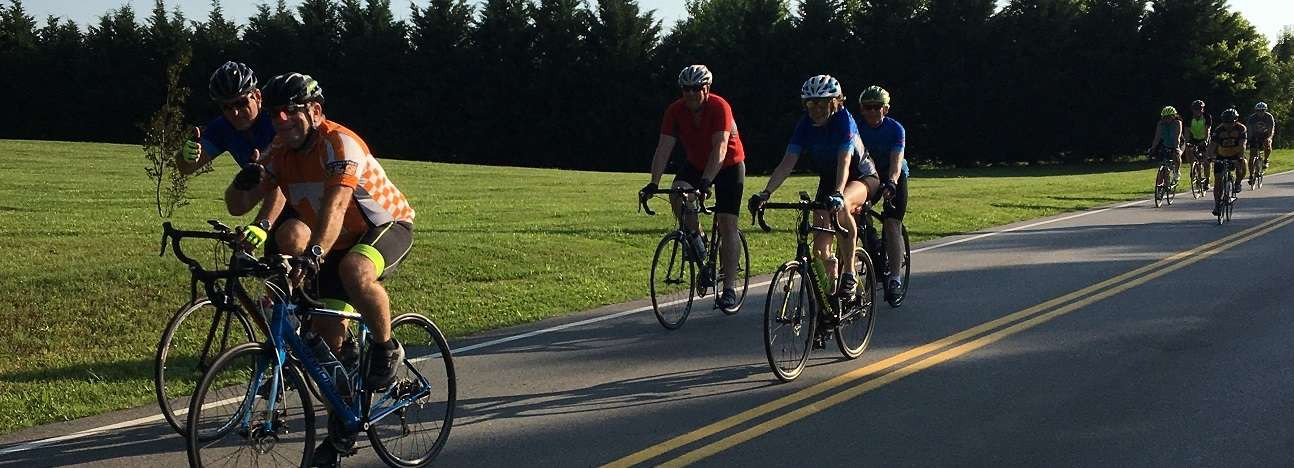 people on a group ride