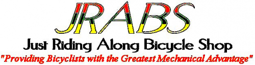 Just Riding Along Bicycle Shop Logo