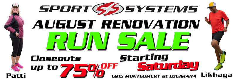 August Renovation Running Shoes and Apparel Sale